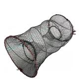 捕鱼笼渔网弹簧折叠螃蟹笼子海用扑虾笼圆形黄鳝鱼网捕鱼工具自动