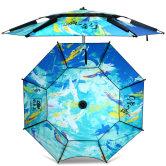钓鱼王钓鱼伞大钓伞渔伞钓伞遮阳加厚防雨防风2.4米万向折叠垂钓
